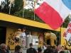 Fabian Cancellara betreedt het podium