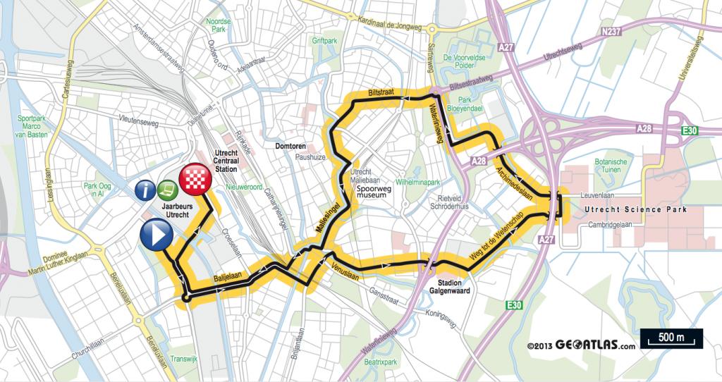 parcours Tour de France 2015 Utrecht